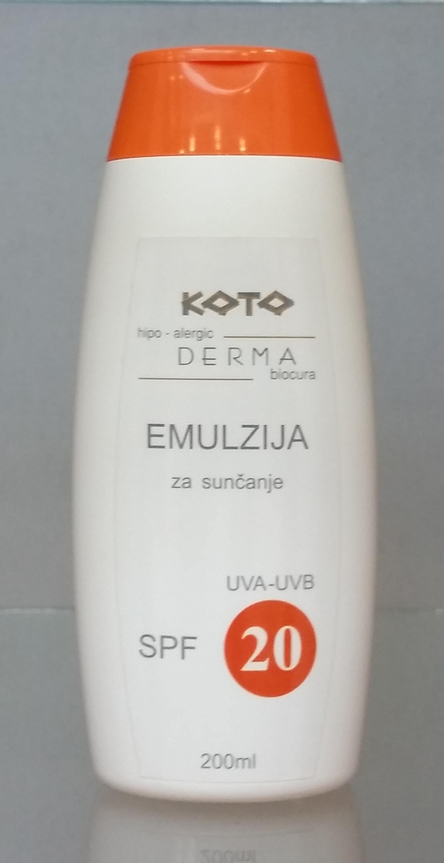 Emulzija za suncanje SPF20-200ml