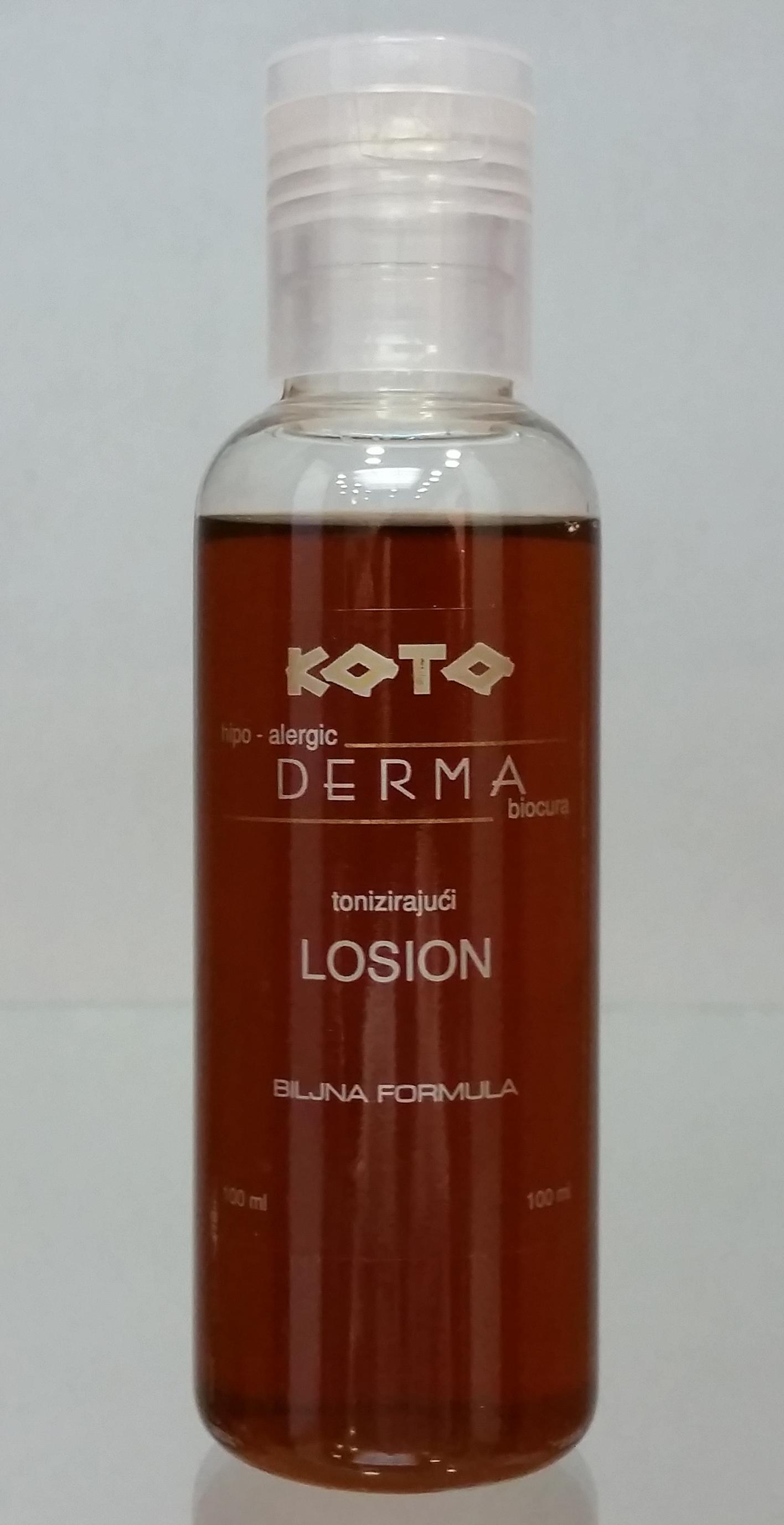 Tonizirajuci losion biljna formula